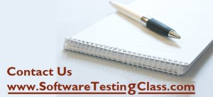 Software Testing Class - Contact Us
