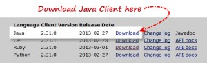 "Download ""Selenium Java Client Driver"""