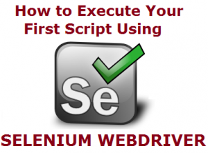 How to run your first Selenium WebDriver script