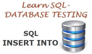 Sql insert into command