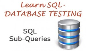 learn database testing - sql sub queries