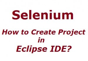 How to Create Project in Eclipse IDE?