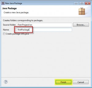 Eclipse new java package