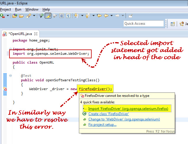 Selenium Webdriver Resolve Error 2