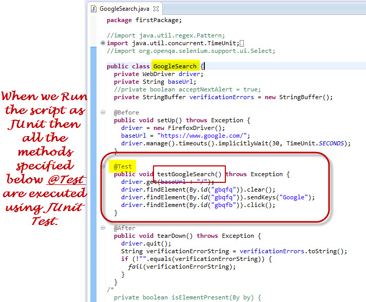 Test Annotation Used In Selenium Webdriver