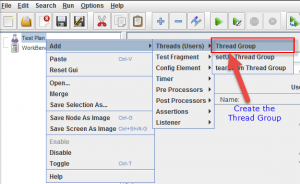 Add Thread Group in JMeter