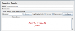JMeter Assertion result pane