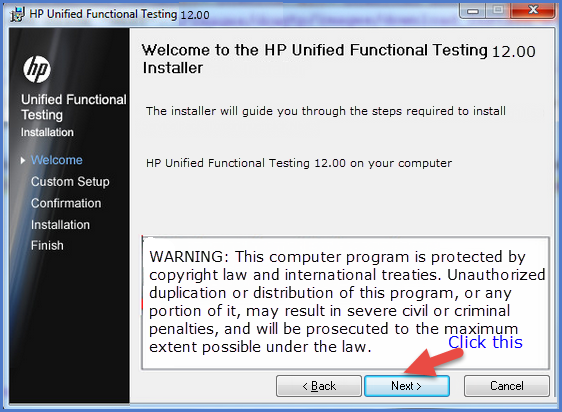 HP Unified Functional Testing 12.00 wizard