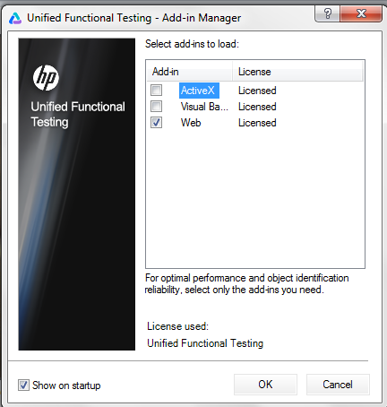 UFT 12.0 Add In Manager