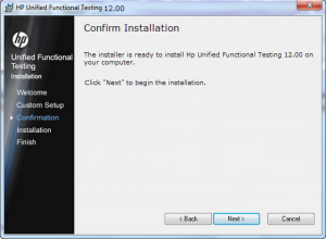 HP Unified Functional Testing 12 Confirmation