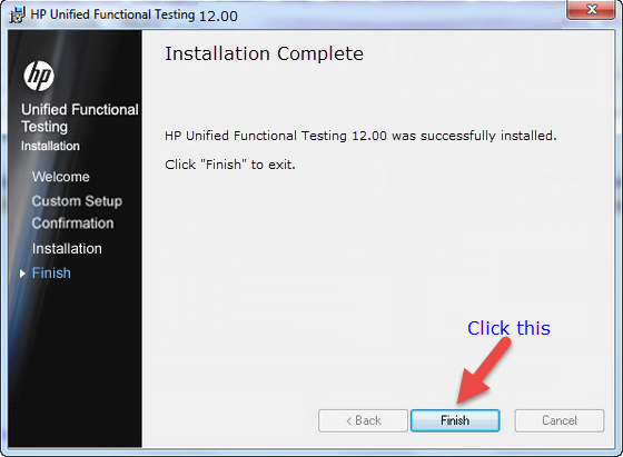 HP Unified Functional Testing 12 Installed