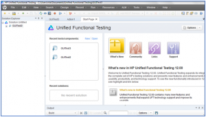 UFT Interface Page