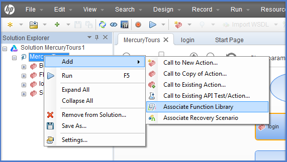 Add Associate Function Library In UFT