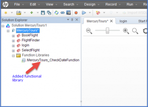 Added Associate Function Library In UFT