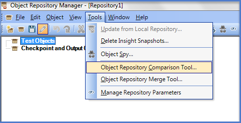 UFT Object Repository Comparison Tool