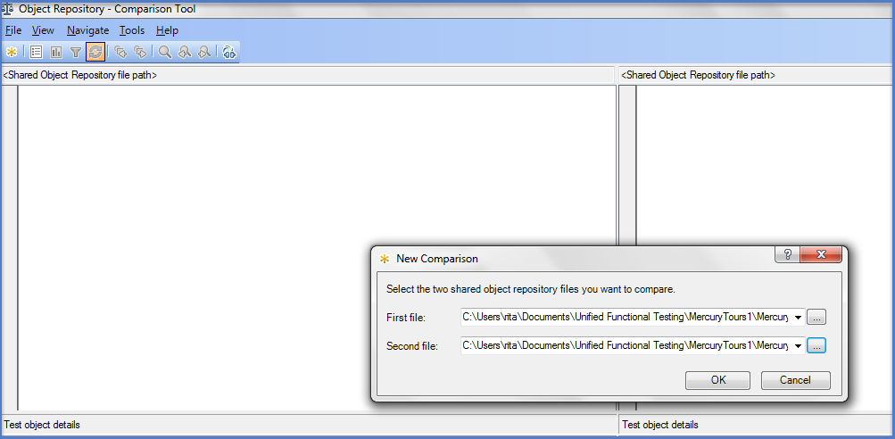 UFT Object Repository Comparison Tool l2