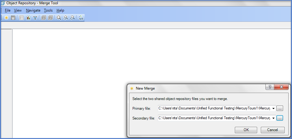 UFT Object Repository Merge Tool
