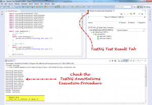 TestNG Annotation execution result