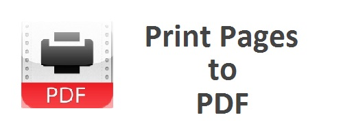 Print Pages to PDF Firefox Add-on