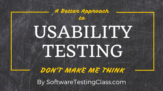 Usability Testing Approach