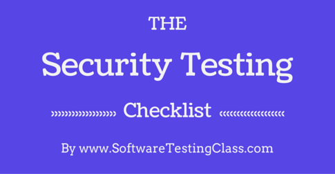 Security Testing Checklist