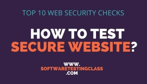 Top 10 Web Security Checks