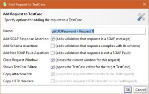 SoapUI Add test case to request