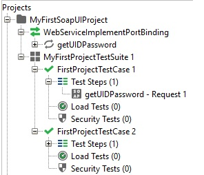 SoapUI Functional test Hierarchy
