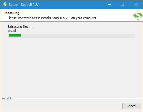 SoapUI Installation screen 10