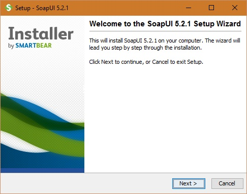 SoapUI Installation screen 2