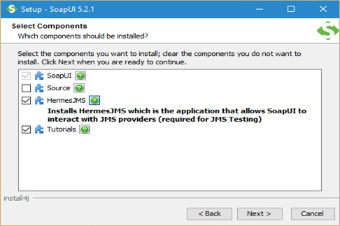 SoapUI Installation screen 5