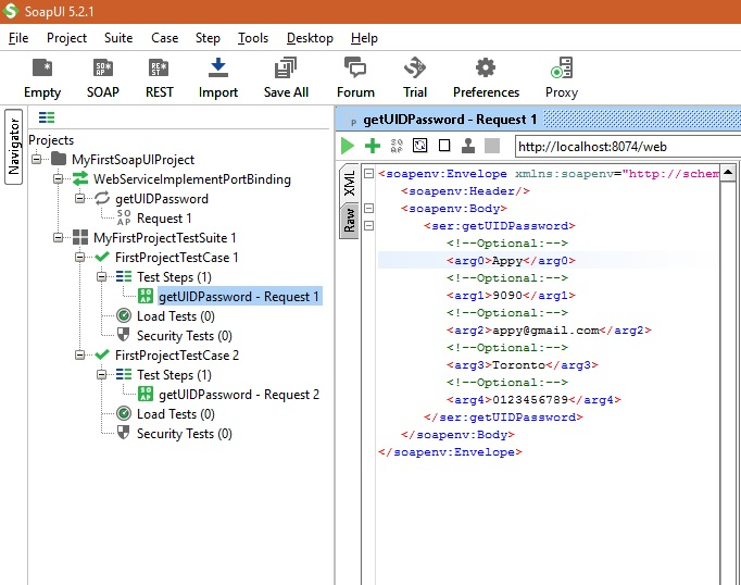 SoapUI Project screenshot6