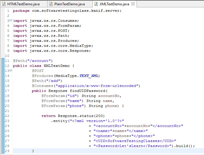 SoapUI XML Text Demo