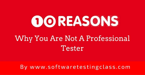 10 reasons for Professional Tester