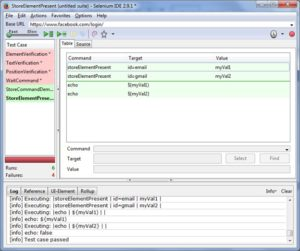 Selenium IDE Screen6