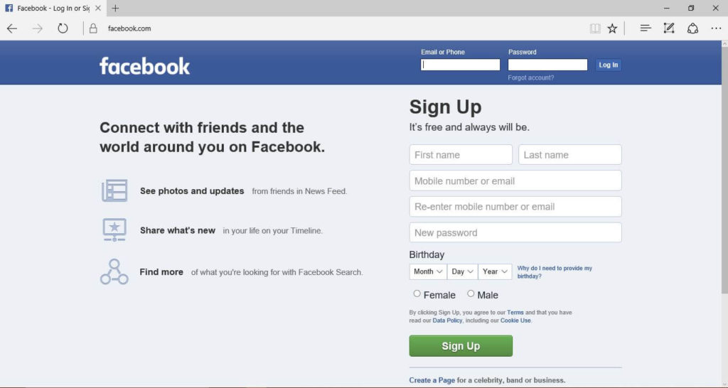 Facebook Login on IE