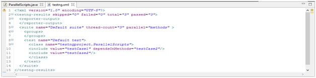 TestNG xml Parallel Execution